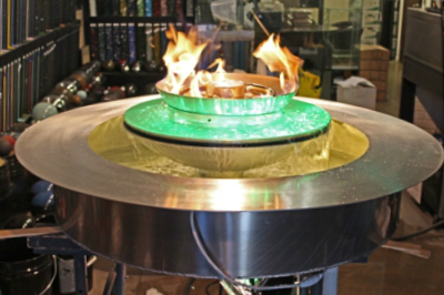 custom fire and water fountain