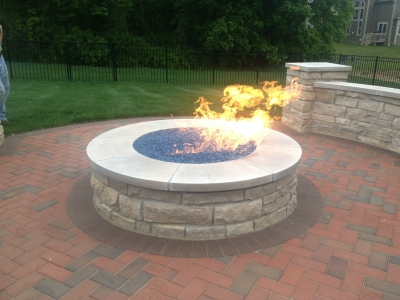 Propane fire pit glass