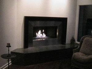 Custom Fireplace Surrounds. Custom metal frames for fireplaces.