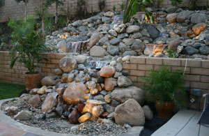 custom fire and water waterfall 2