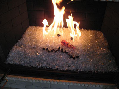 Scarlet fireplace glass and fire pit glass. Fireplaces,Aquatic ...