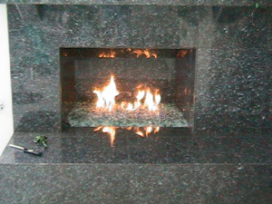 fire rock glass for marble fireplaces