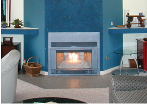 cool fireplace ideas with glass fire rocks