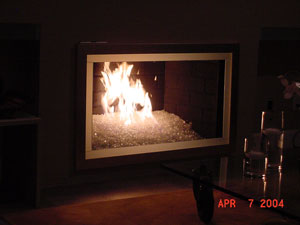 fire crystal fireplace