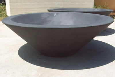 The Asian Wok is a modern shaped bowl that could work in many projects  including contemporary or Asian style projects. The Asian Wok Bowl shown in  the main ... - Patio Fire Pits In Concrete Cone And Wok Shaped Outdoor Fire Bowls.