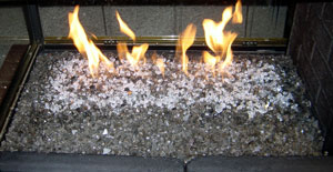 custom fireplace ideas with fireglass