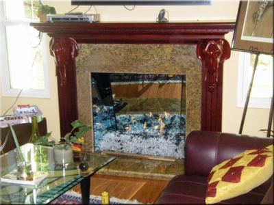 Mirror Panels, Fireplace