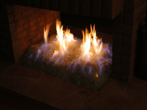 glass for propane fireplace